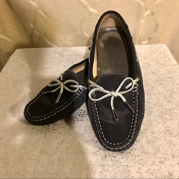 Tod's scarpe   Tods Navy Gommino Driving Driving Driving Moccasin Loafer 37 12   Poshmark 24266f